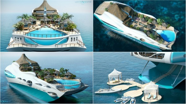 yacht tropical island Seven Sweet Yachts for the Super Rich