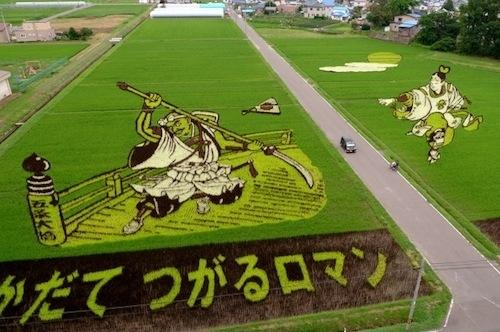 japanese rice field art 8 Japanese rice field art demonstates both the skill and the insanity of the people (27 Photos)