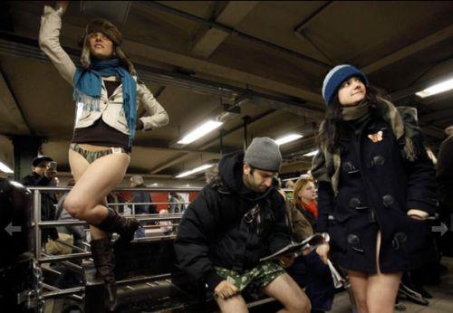 no pants subway 2 No pants subway ride 2012 (36 Photos)